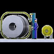 Полуавтоматическая стреппинг-машина  для металлических лент