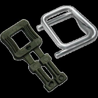 Как упаковывать пластиковыми и металлическими пряжками для ленты?