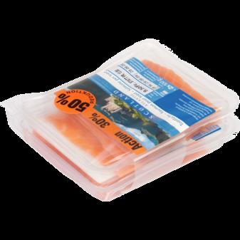 Автоматическая бандажная машина ATS US-2000 PIC, образец упаковки красной рыбы