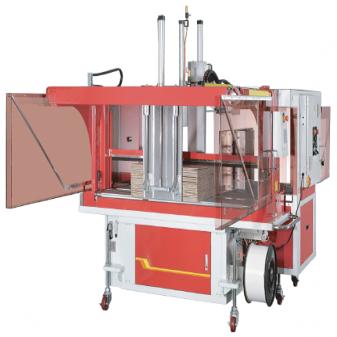 Стреппинг машина для обвязки гофрокартона с выравнивателем связки TP-701CQ